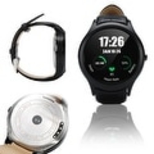 Indigi A6 SmartWatch & Phone - Android 4.4 KitKat OS + Bluetooth 4.0 + Pedometer + Accurate Heart Monitor + WiFi + GPS - Black
