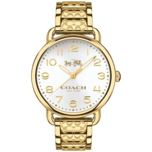 COACH WOMEN'S DELANCEY GOLD-TONE ION-PLATED STAINLESS STEEL BRACELET WATCH 36MM 14502496