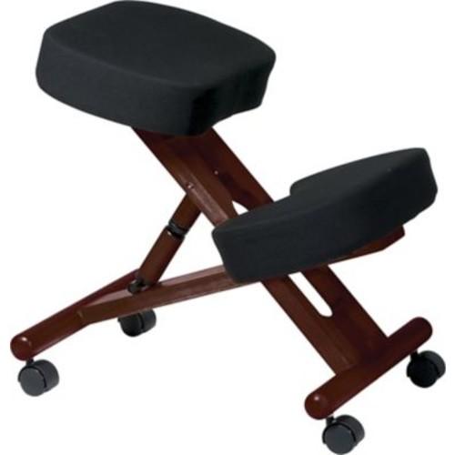 Office Star Ergonomic Fabric Knee Chair, Black