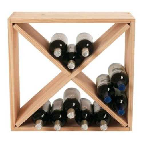 Wine Enthusiast 24-Bottle Compact Cellar Cube Wine Rack in Natural