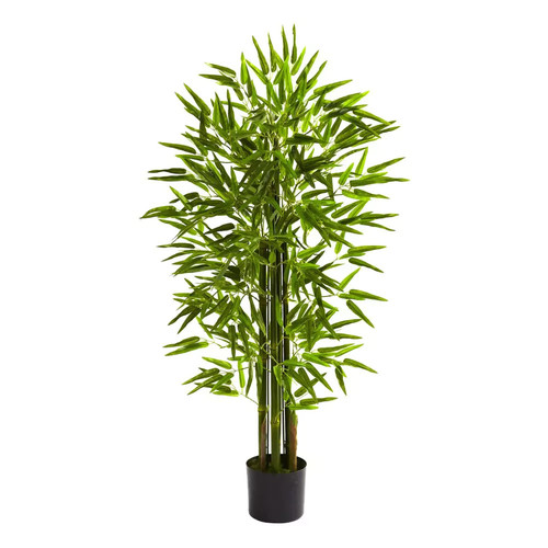 Nearly Natural 5384 4-ft Bamboo Tree UV Resistant