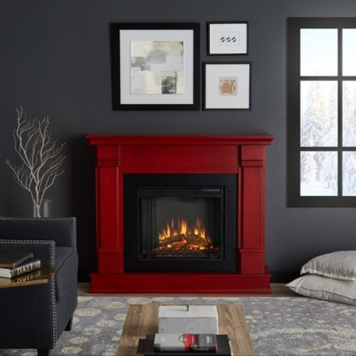 G8600E-W Silverton Electric Fireplace by Real Flame