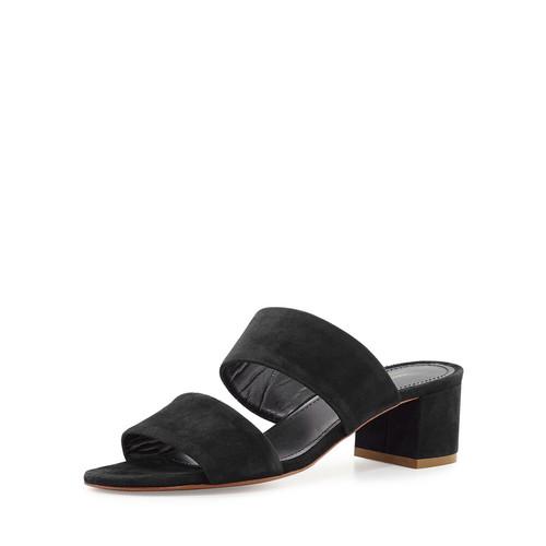 MANSUR GAVRIEL Suede Two-Strap Mule Sandal