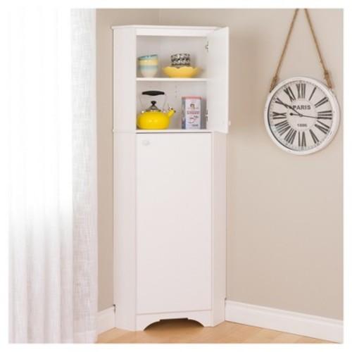 Prepac Elite Tall White laminate Storage Cabinet