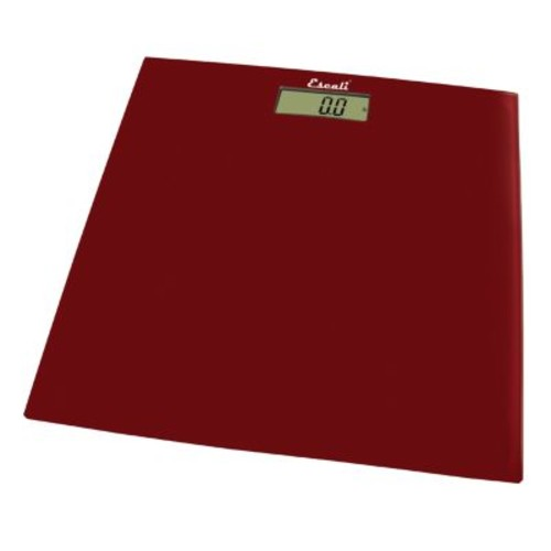 Escali Digital Glass Platform Bathroom Scale in Rio Red