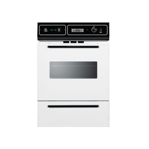 Summit Appliance 24 in. Single Gas Wall Oven in White