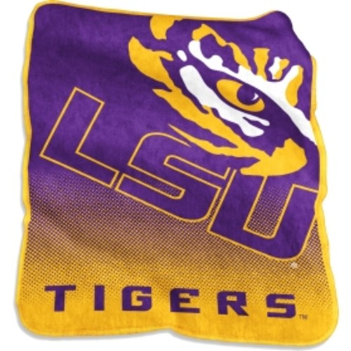 LSU Tigers Raschel Throw