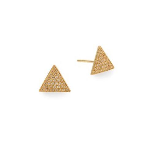 Saks Fifth Avenue - Diamond Triangle Stud Earrings