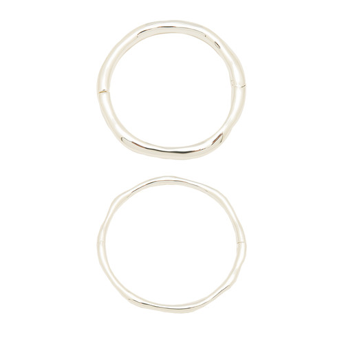 gorjana Quinn Hinged Bangle Set in Silver