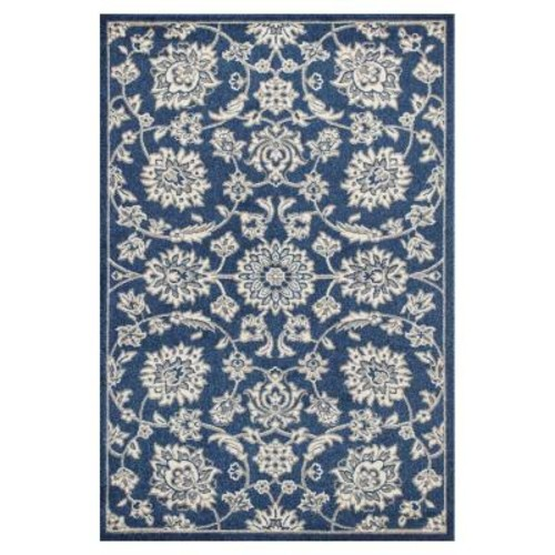 Kas Rugs Umbria Blue 7 ft. 7 in. x 10 ft. 10 in. All-Weather Area Rug