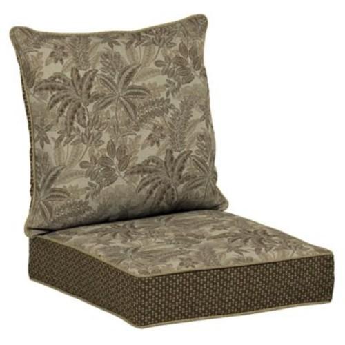 BombayOutdoors Palmetto Outdoor Dining Chair Cushion; Mocha