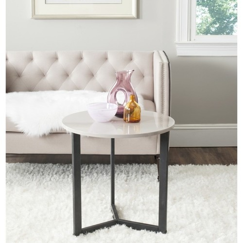 Safavieh Leonard Mid-century Modern Wood Taupe/ Black Lacquer End Table