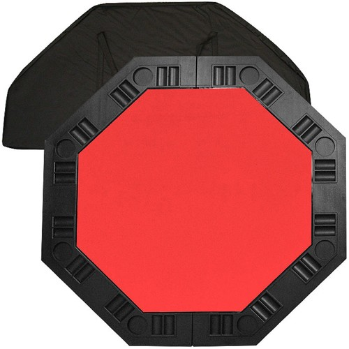 Trademark 8 Player Octagonal Table top - Red - 48 inch