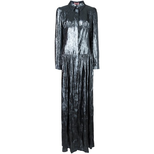 LANVIN Shirt Collar Pleated Dress