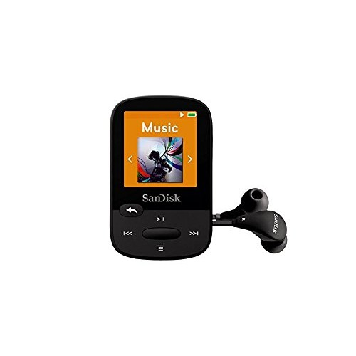 SanDisk Clip Sport 8GB MP3 Player with LCD Screen and MicroSDHC Card Slot- Black - SDMX24-008G-G46K (Certified Refurbished)