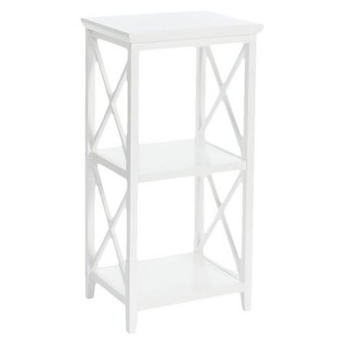 RiverRidge X-Frame Collection 3- Shelf Storage Tower - White