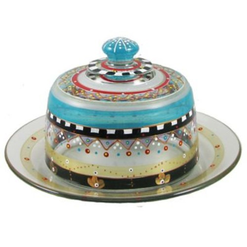 Golden Hill Studio Mosaic Carnival Cheese Cake Stand
