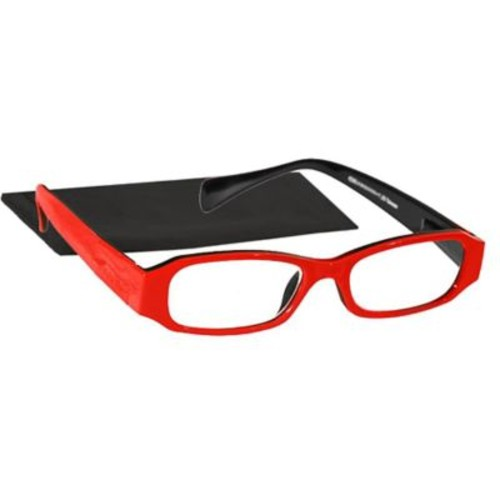 Peeperspecs Happy Red Peepers Red/Black Reading Glasses