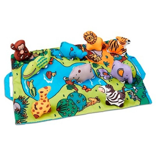 Melissa & Doug Take-Along Wild Safari Play Mat - Multicolored