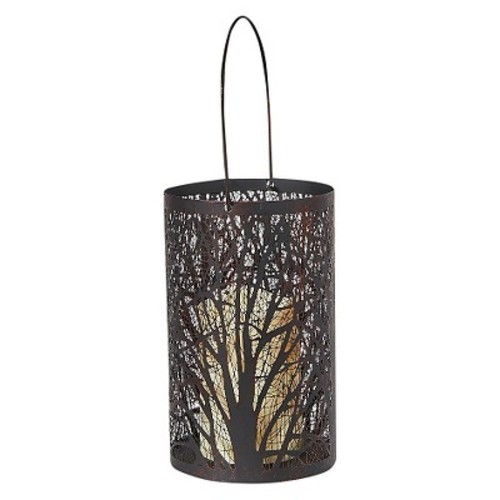 Smart Design Arboretum 8H in. Lantern with LED Candle