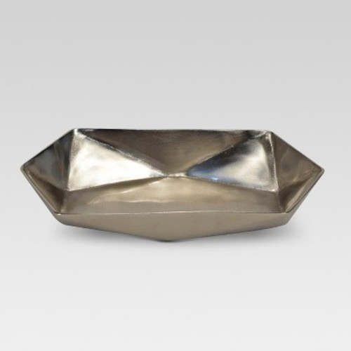 Faceted Metal Tray Silver - Project 62
