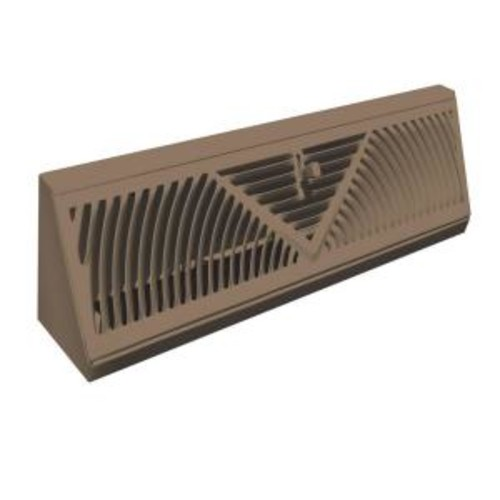 TruAire 15 in. Steel Brown Baseboard Diffuser Supply