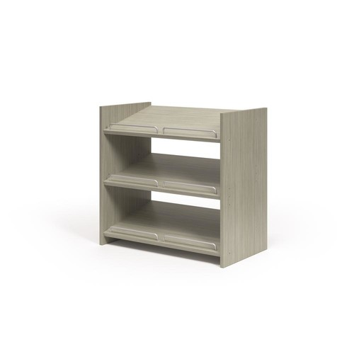 Martha Stewart Living 25.125 in. W x 14 in. D x 25 in. H Rustic Grey Stackable Shoe Storage