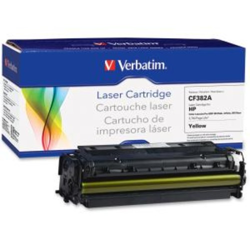 Verbatim Remanufactured Laser Toner Cartridge alternative for HP CF382A Yellow