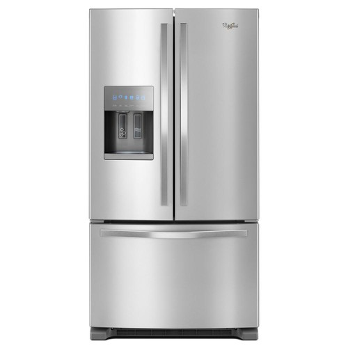 Whirlpool 36 in. W 25 cu. ft. French Door Refrigerator in Fingerprint-Resistant Stainless Steel
