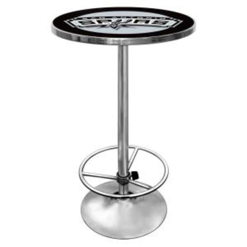 Trademark NBA San Antonio Spurs Chrome Pub/Bar Table