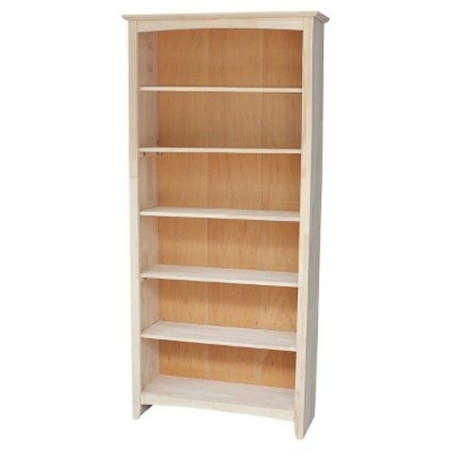 Shaker Bookcase Unfinished - International Concepts