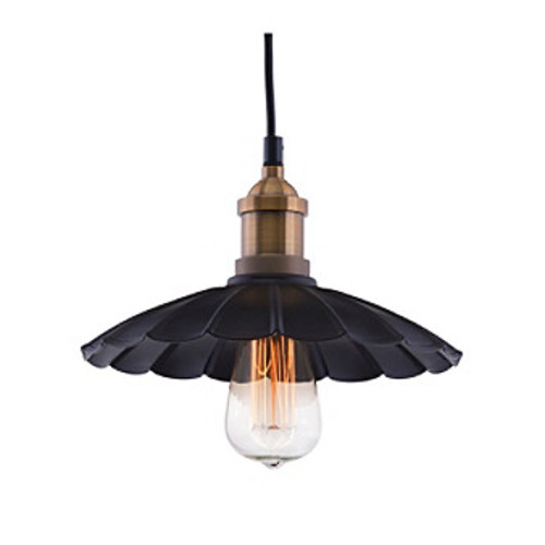 Zuo Modern Antique Black & Copper Hamilton Ceiling Lamp