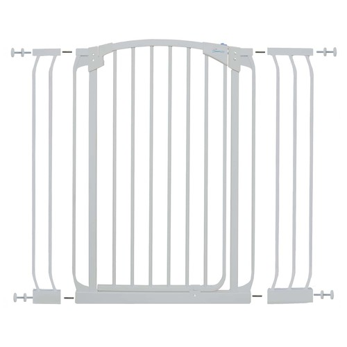 Dreambaby Chelsea 40 in. H Extra Tall Auto-Close Security Gate in White with Extensions