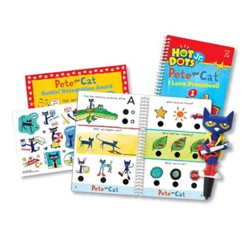 Educational Insights Hot Dots Jr. Pete The Cat I Love Preschool! Card Set with Pen