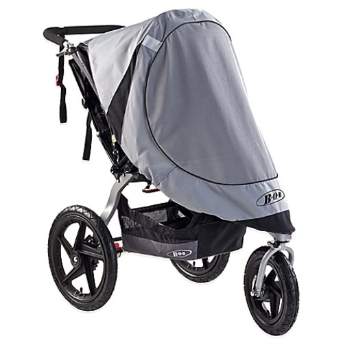 BOB Revolution and Stroller Strides Single Stroller Sun Shield in Grey