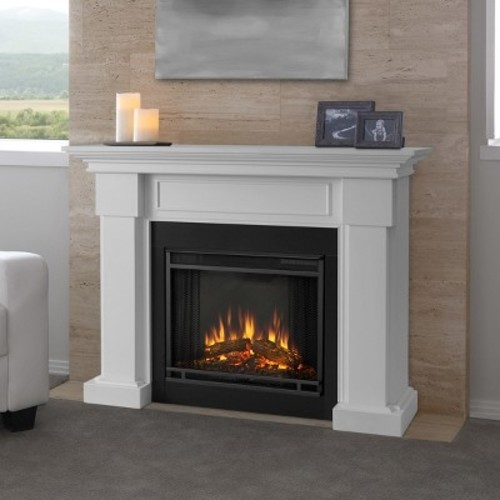 Real Flame Hillcrest Electric Fireplace in White
