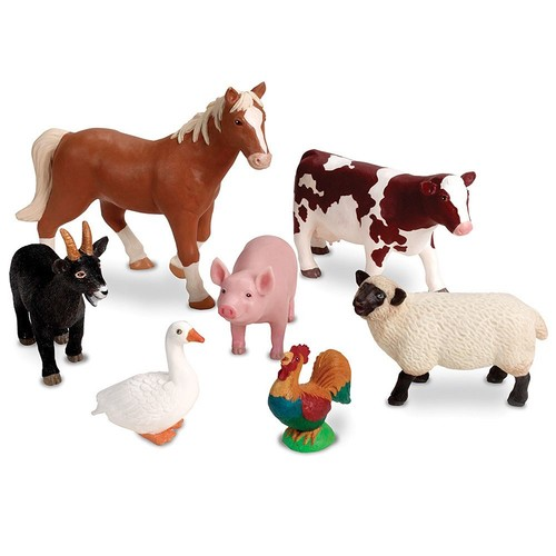 Learning Resources Jumbo Farm Animals, 7 Pieces [Standard Packaging]