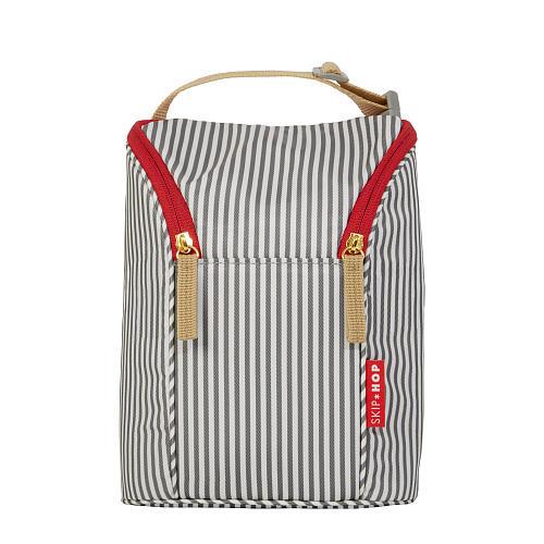 Skip Hop Grab & Go Double Bottle Bag - French Stripe