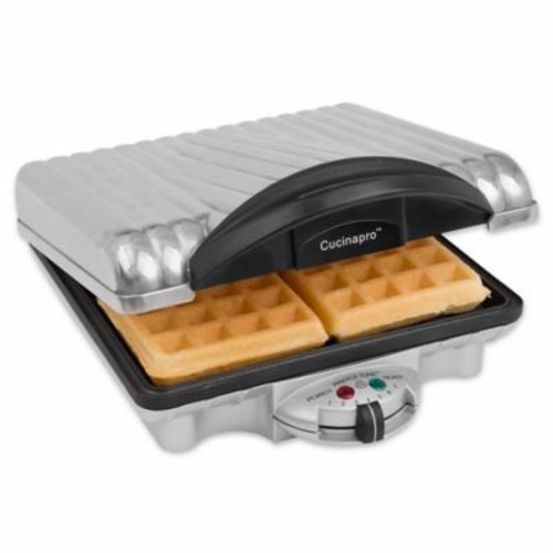 CucinaPro 4-Square Belgian Waffle Maker in Stainless Steel