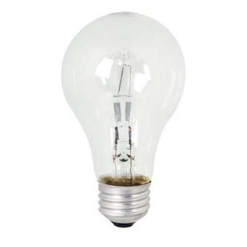 Feit Electric Energy Saving 100W Equivalent Halogen A19 Clear Light Bulb (48-Pack)