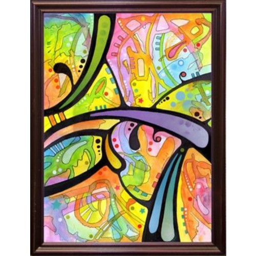East Urban Home 'Abstract' Graphic Art Print; Cherry Grande Framed
