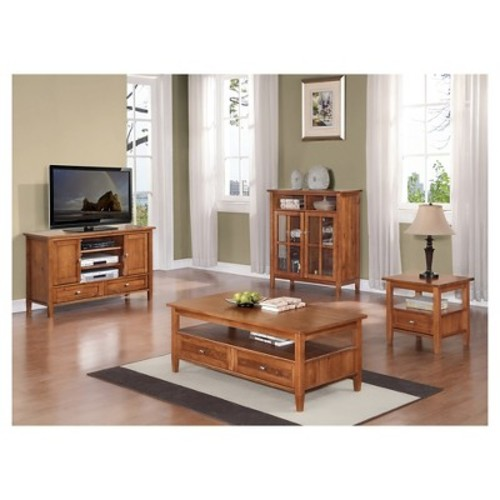 Warm Shaker End Side Table Honey Brown - Simpli Home