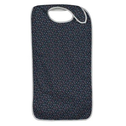 DMI Polyester/Cotton Mealtime Protector With Hook and Loop, Fancy Navy