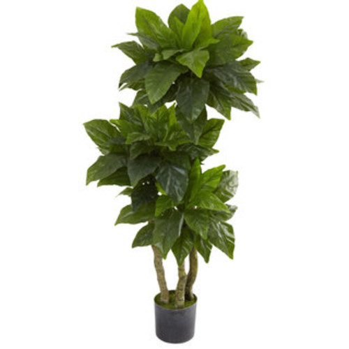 Nearly Natural Artificial Plants 4-foot Money Plant (Real Touch)