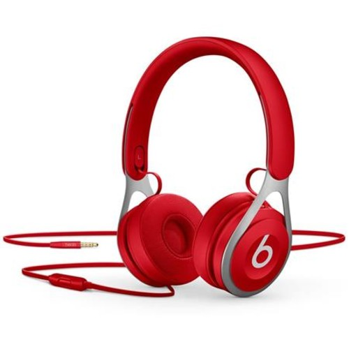 Beats by Dr. Dre EP, On-Ear Headphones, Red - with Remote and Mic