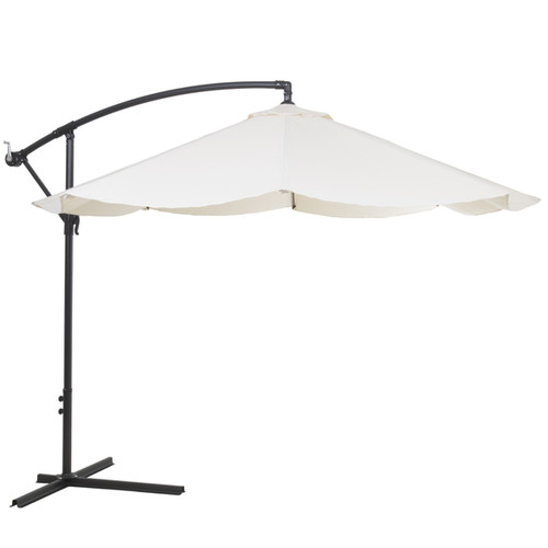 Pure Garden Offset 10-foot Aluminum Hanging Patio Umbrella - Tan