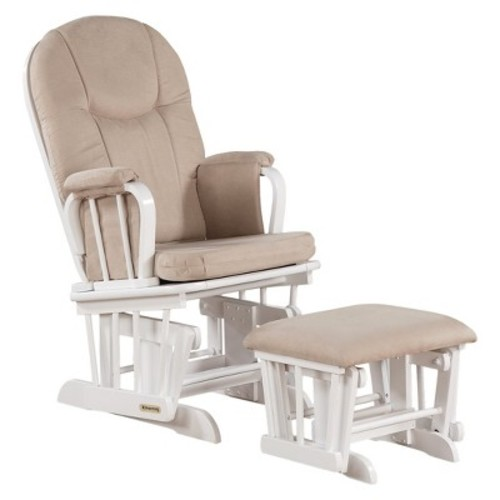 Shermag Madison Glider White with Beige