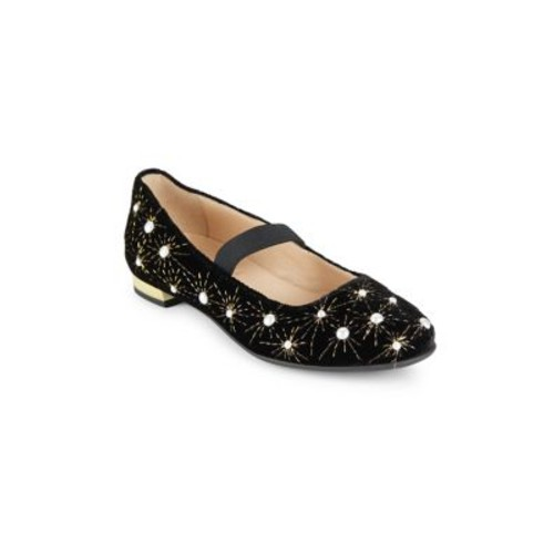 Girl's Pearl Leather Ballet Flats