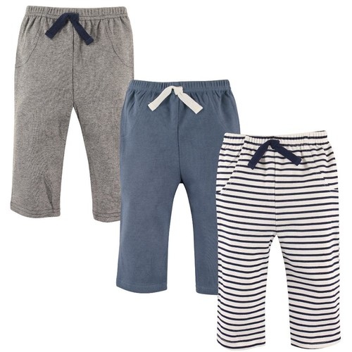 Hudson Baby 3 Pack Assorted Pattern Pants