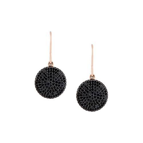 'Icon' diamond drop earrings